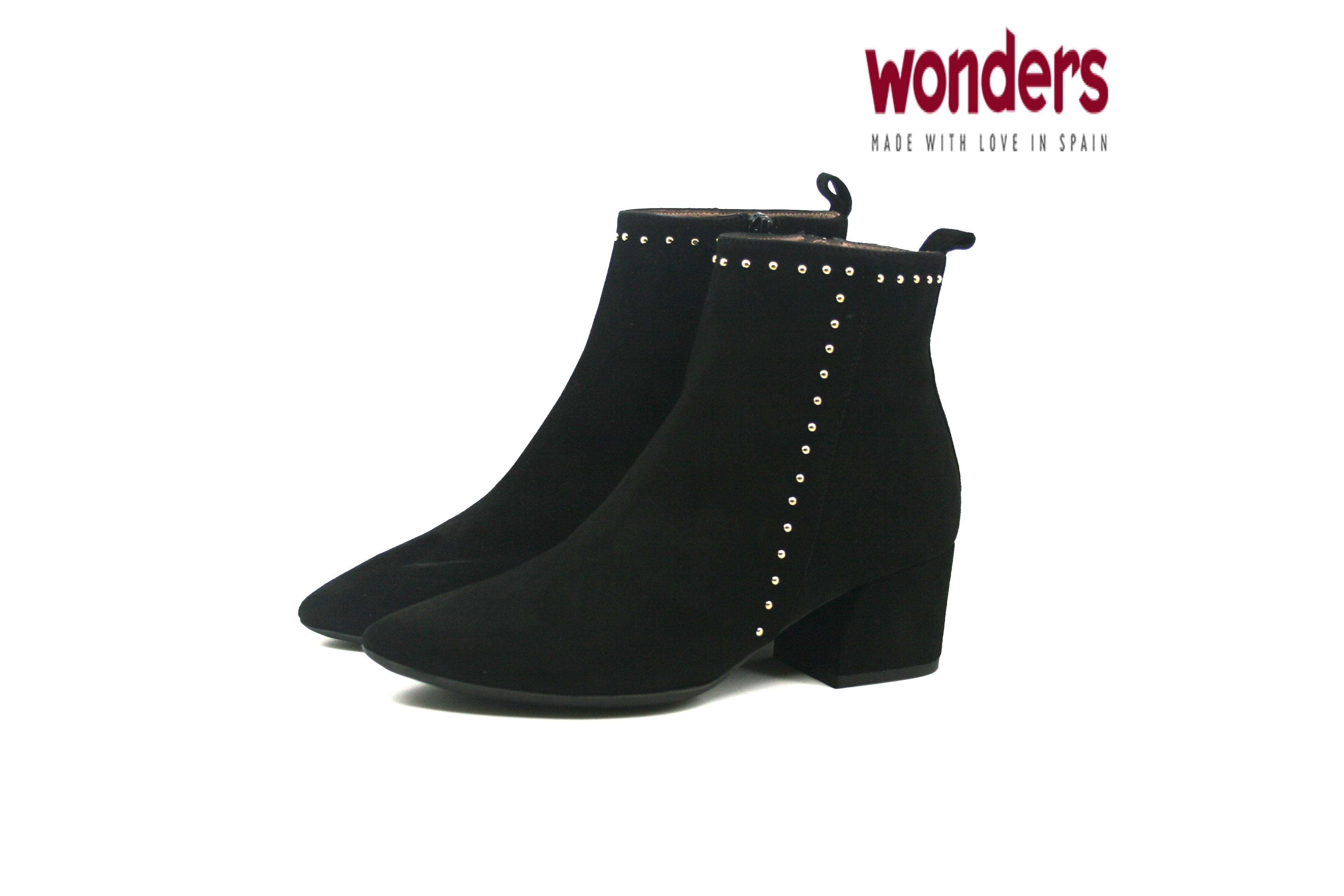 d3214837838f Damkjaer Sko Online Shop - Wonders Støvle med Pyntenitter - 7203 - Sort