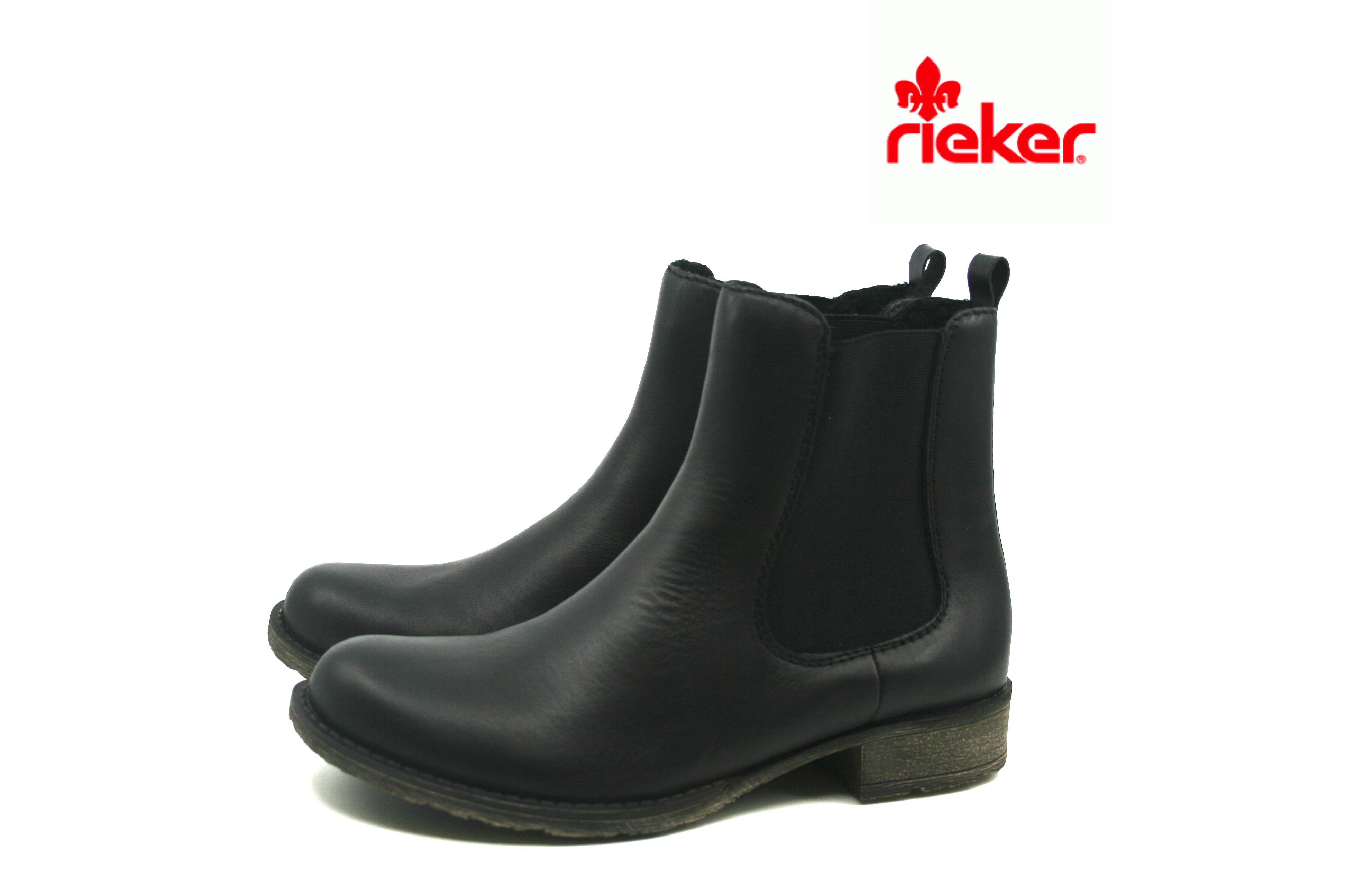 8110add0 Damkjaer Sko Online Shop - Rieker Klassisk Sort Støvle
