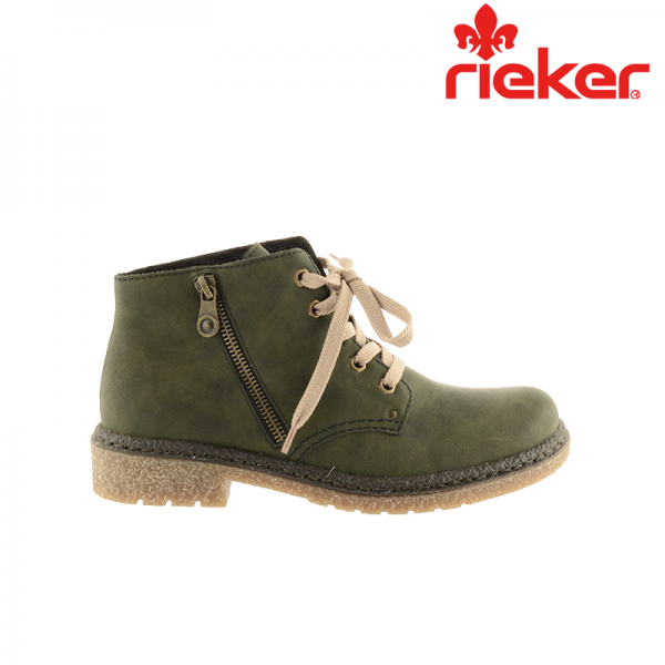 656833baf43 Damkjaer Sko Online Shop - Rieker støvle med kort skaft samt rågummisål